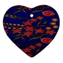 Batik  Fabric Ornament (heart) by BangZart