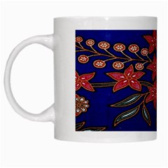 Batik  Fabric White Mugs by BangZart