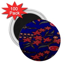 Batik  Fabric 2 25  Magnets (100 Pack)  by BangZart