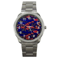 Batik  Fabric Sport Metal Watch by BangZart