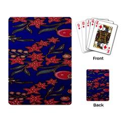 Batik  Fabric Playing Card