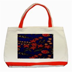 Batik  Fabric Classic Tote Bag (red)