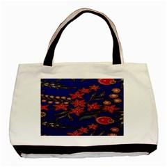 Batik  Fabric Basic Tote Bag (two Sides)