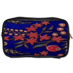 Batik  Fabric Toiletries Bags 2 Side by BangZart