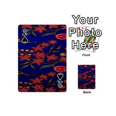 Batik  Fabric Playing Cards 54 (mini)  by BangZart