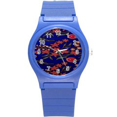 Batik  Fabric Round Plastic Sport Watch (s)