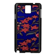 Batik  Fabric Samsung Galaxy Note 3 N9005 Case (black) by BangZart