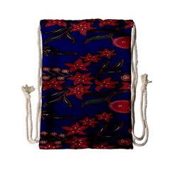 Batik  Fabric Drawstring Bag (small) by BangZart