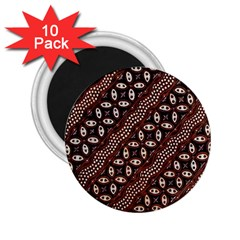 Art Traditional Batik Pattern 2 25  Magnets (10 Pack)