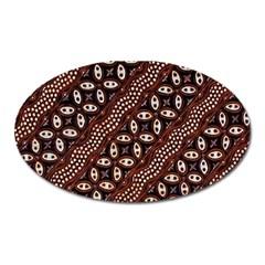 Art Traditional Batik Pattern Oval Magnet