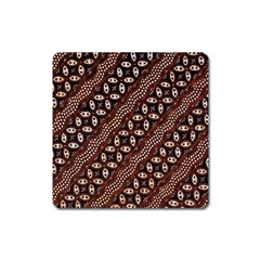 Art Traditional Batik Pattern Square Magnet