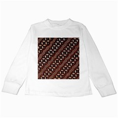 Art Traditional Batik Pattern Kids Long Sleeve T Shirts