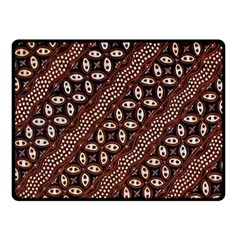 Art Traditional Batik Pattern Double Sided Fleece Blanket (small)
