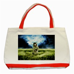 Astronaut Classic Tote Bag (red) by BangZart