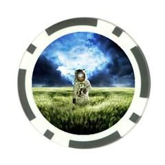 Astronaut Poker Chip Card Guard