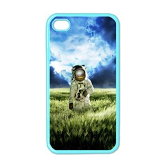 Astronaut Apple Iphone 4 Case (color) by BangZart
