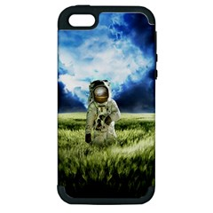 Astronaut Apple Iphone 5 Hardshell Case (pc+silicone) by BangZart