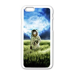 Astronaut Apple Iphone 6/6s White Enamel Case by BangZart
