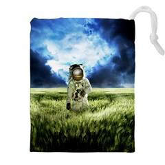 Astronaut Drawstring Pouches (xxl) by BangZart