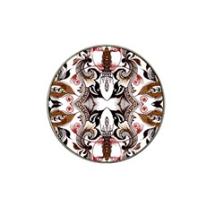 Art Traditional Batik Flower Pattern Hat Clip Ball Marker (4 Pack) by BangZart