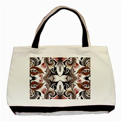 Art Traditional Batik Flower Pattern Basic Tote Bag (two Sides)