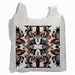 Art Traditional Batik Flower Pattern Recycle Bag (one Side)