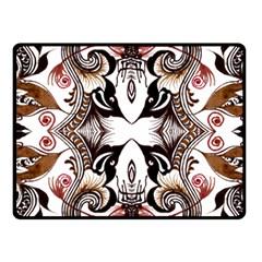 Art Traditional Batik Flower Pattern Fleece Blanket (small)