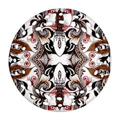 Art Traditional Batik Flower Pattern Ornament (round Filigree) by BangZart