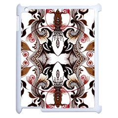 Art Traditional Batik Flower Pattern Apple Ipad 2 Case (white) by BangZart