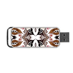 Art Traditional Batik Flower Pattern Portable Usb Flash (one Side) by BangZart