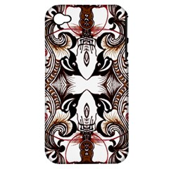 Art Traditional Batik Flower Pattern Apple Iphone 4/4s Hardshell Case (pc+silicone) by BangZart