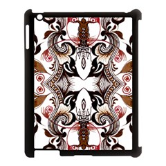 Art Traditional Batik Flower Pattern Apple Ipad 3/4 Case (black) by BangZart