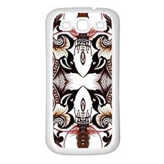 Art Traditional Batik Flower Pattern Samsung Galaxy S3 Back Case (white) by BangZart