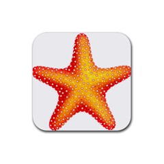 Starfish Rubber Square Coaster (4 Pack)  by BangZart