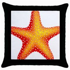 Starfish Throw Pillow Case (black) by BangZart