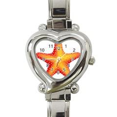 Starfish Heart Italian Charm Watch