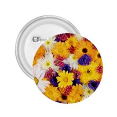 Colorful Flowers Pattern 2 25  Buttons by BangZart