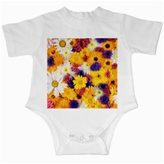 Colorful Flowers Pattern Infant Creepers