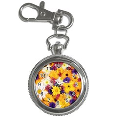 Colorful Flowers Pattern Key Chain Watches