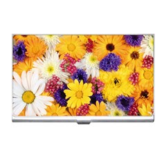 Colorful Flowers Pattern Business Card Holders by BangZart