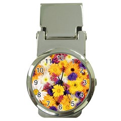 Colorful Flowers Pattern Money Clip Watches by BangZart