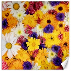 Colorful Flowers Pattern Canvas 12  X 12