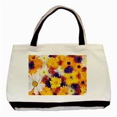 Colorful Flowers Pattern Basic Tote Bag (two Sides)