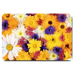 Colorful Flowers Pattern Large Doormat  by BangZart