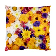 Colorful Flowers Pattern Standard Cushion Case (two Sides) by BangZart