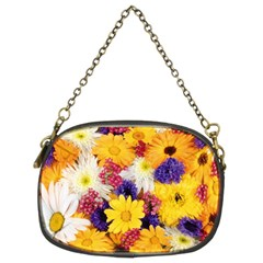 Colorful Flowers Pattern Chain Purses (two Sides)  by BangZart