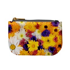 Colorful Flowers Pattern Mini Coin Purses