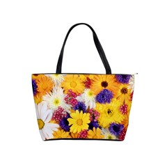 Colorful Flowers Pattern Shoulder Handbags