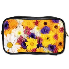 Colorful Flowers Pattern Toiletries Bags