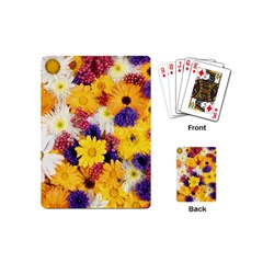 Colorful Flowers Pattern Playing Cards (mini)  by BangZart